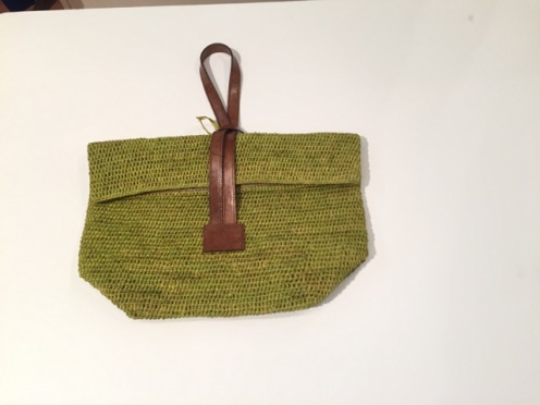 The raffia wristlet bags come in all colours...from Stefanies
