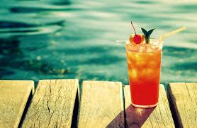 cocktails on the dock