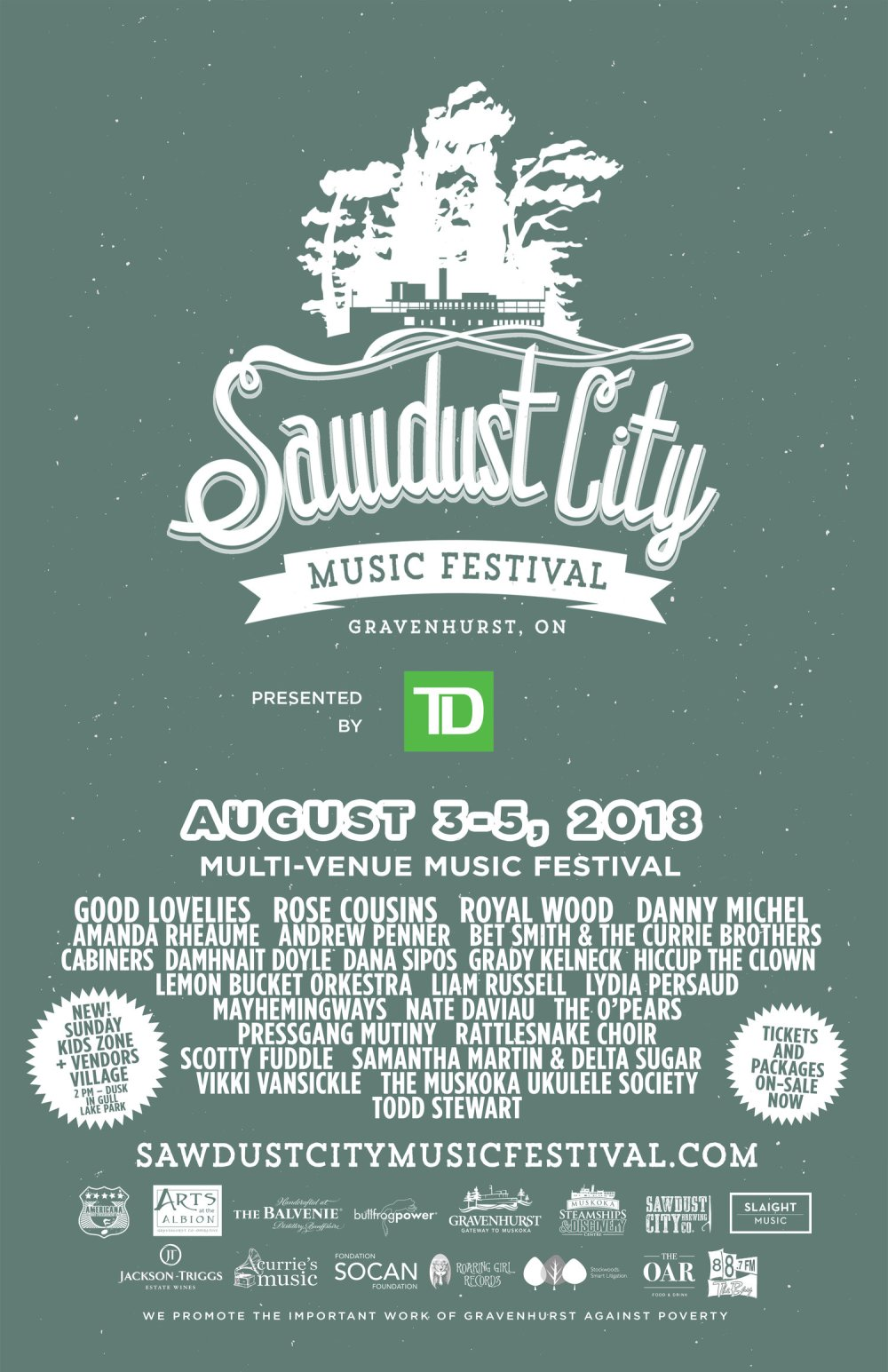 Sawdust city music festival 2018