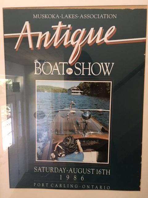 antique boat poster